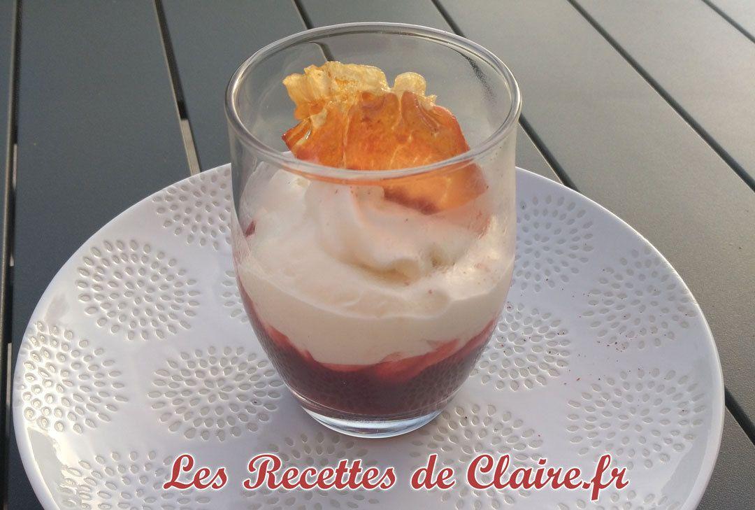 Verrine betterave, chou fleur et chips jambon de Parme