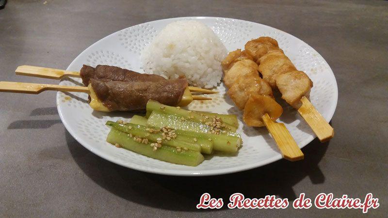 Brochettes Japonaises, Yakitori marinées
