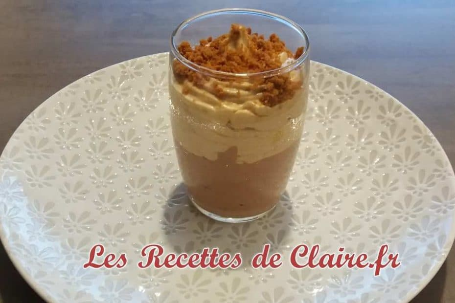 Verrine mousse chocolat et spéculos